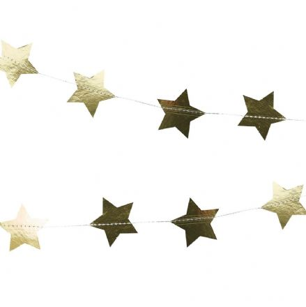 Gold Star Garland / Backdrop Decoration
